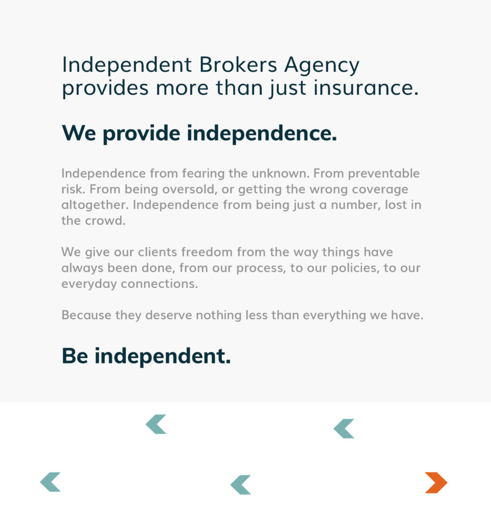 IBA Insurance Brokers language and positioning