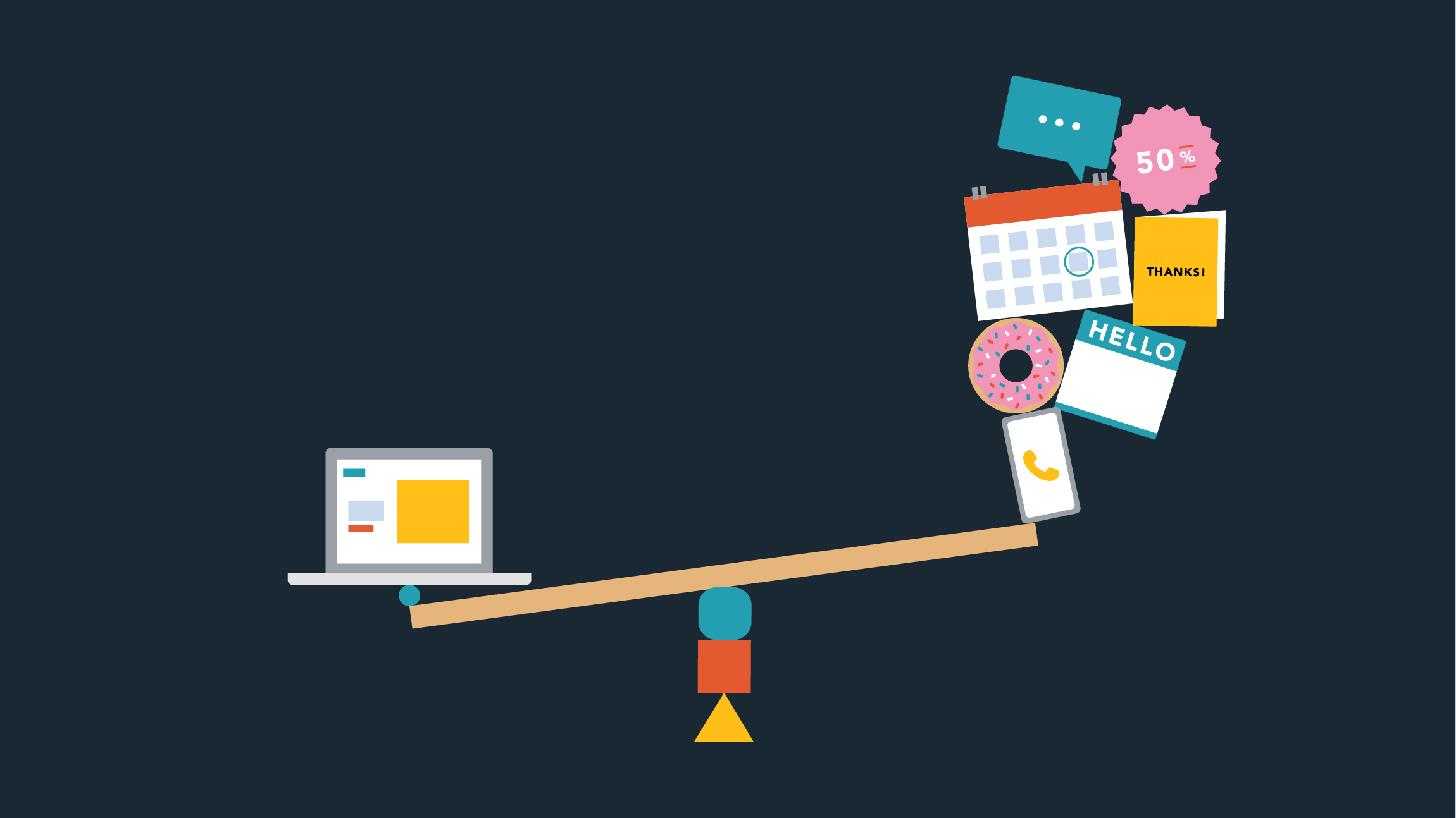 Website design tips a scale against in-person meetings, donut deliveries and other sales tactics that aren't possible due to COVID-19